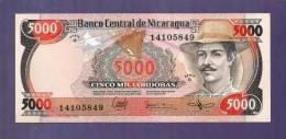 Nicaragua  UNC  Banknote  5.000 Cordobas - Nicaragua