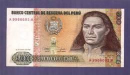PERU 1987 UNC Banknote  500 Intis - Peru