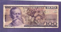 MEXICO 1981 Used VF  Banknote  100 Pesos KM732a - Mexico