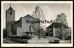 ALTE POSTKARTE ST. INGBERT PFARRKIRCHE ST. HILDEGARD 1940 SAARGEBIET SAAR Cpa Postcard AK Ansichtskarte - Saarpfalz-Kreis