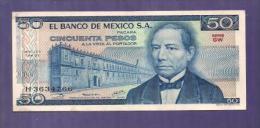 MEXICO 1979 Used VF  Banknote  50 Pesos KM726a - Mexico