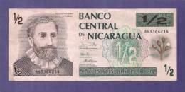 Nicaragua  Used VF  Banknote  1/2  Cordoba - Nicaragua