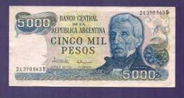 ARGENTINA 1977,  Banknote,  Used VF, 5.000 Pesos Argentina Km305 - Argentina