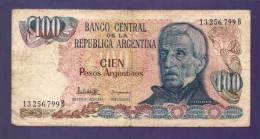 ARGENTINA 1983,  Banknote,  Used VF, 100 Pesos Argentina Km315 - Argentina