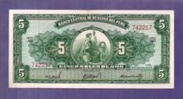 PERU 1962 UNC Banknote 5 Soles De Oro Km 83 - Peru