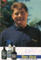 Cpm Blu Coral, Raymond Poulidor Avec Autographe (14.5) - Wielrennen