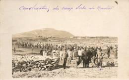 TUNISIE BIZERTE CONSTRUCTION DU CAMP SERBE DU MADOR CARTE PHOTO - Tunisia