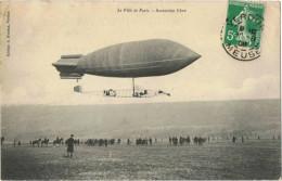 2  Cpa    Dirigeables  Ville De Paris  1908  Tampon Verdun - Dirigibili