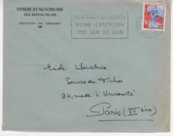 FLAMME DE FONTENAY LE COMTE - VENDEE 1960 - Marcophilie (Lettres)