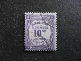 TB Taxe N° 44, Oblitéré . - 1859-1955 Gebraucht