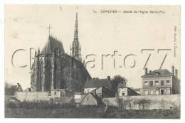 Conches-en-Ouche (27) :Vue Générale Du Quartier De L´église Sainte-Foy En 1910. - Conches-en-Ouche
