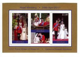 PENRHYN - 2011 - Mariage Du Prince William - BF Neufs // (MNH) - Penrhyn