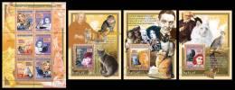 GUINEA 2008 - Cats, M. Pfeiffer, B. Bardot, M/S + 3 S/S - Mi 5598-603 + B1536-8, YT 3393-8 + BF832-4 - Acteurs