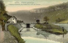 ESNEUX 1910    L' OURTHE PITTORESQUE   L' ECLUSE DE FECHEREUX VERS ROSIERE ET LA ROCHE AUX FAUCONS - Esneux