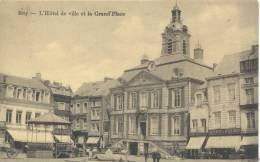 HUY  L' HOTEL DE VILLE ET LA GRANDE PLACE       BELLE CARTE !!!! - Hoei