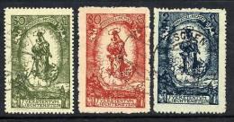 LIECHTENSTEIN 1920 Birthday Of Johann II Set Used.  Michel 40-42 - Liechtenstein