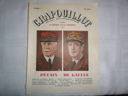 """""""le Crapouillot""""  Pétain- De Gaulle - Zeitungen"""