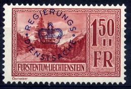 LIECHTENSTEIN 1935 Official 1.50 Fr. LHM / *.  Michel 19 - Official
