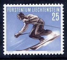LIECHTENSTEIN 1955 25 Rp. Ski-jumping LHM / *.  Michel 336 Cat. €25 - Skiing
