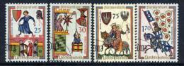 LIECHTENSTEIN 1963 Minnesingers Set Used.  Michel 433-36 - Liechtenstein