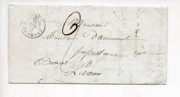 1846 -  De Cormeilles 27 Notaire Pour Lisieux 14 En Port Dû 2 Décimes / CAD Type 15 / Verso CAD D'arrivée > - Poststempel (Briefe)