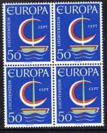 LIECHTENSTEIN 1966 Europa In Block Of 4 MNH / **.  Michel 469 - Liechtenstein