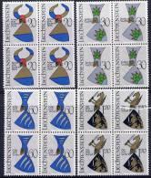 LIECHTENSTEIN 1966 Arms In Blocks Of 4 MNH / **.  Michel 465-68 - Liechtenstein