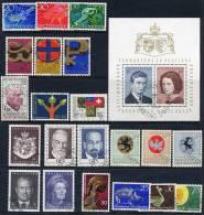 LIECHTENSTEIN 1967-1971 Range Of Used Sets And Block. - Liechtenstein