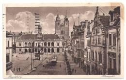 CPA Allemagne Madeburg Altemarkt édit Echte Kupfertiefdruckkarte écrite 1917 Sans Timbre - Magdeburg