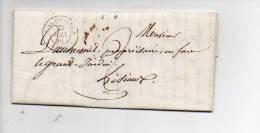 1846 -  De Cormeilles 27 Pour Lisieux 14 En Port Dû 2 Décimes / CAD Type 15 / Verso CAD D'arrivée > - Poststempel (Briefe)