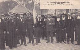 21270 Journée Diocesaine Morbihan, Groupe Mutilés Guerre Canton De Baud -24 Nozais -1914-18 Medaille Breton Curé - France