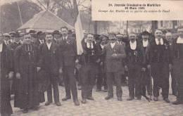 21270 Journée Diocesaine Morbihan, Groupe Mutilés Guerre Canton De Baud -24 Nozais -1914-18 Medaille Breton Curé