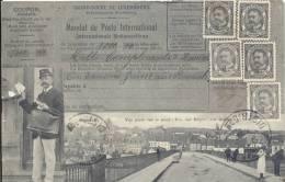 REMICH  1912    VUE PRISE SUR LE PONT - ...       TRES BELLE CARTE  FACTEUR / MANDAT DE POSTE - Remich