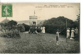 LOQUIREC  -  LE FORTIN ET LE JARDIN DE L' HOTEL DES BAINS - Locquirec