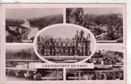 CHATEAUNEUF DU FAOU (29) CPSM Multi-vues FORMAT CPA Circulée Et Timbrée1951 Peu Courante - Châteauneuf-du-Faou