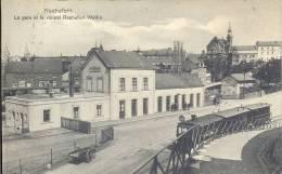 ROCHEFORT  LA GARE ET LE VICINAL ROCHEFORT - WELLIN   ( TRAM A VAPEUR - STOOMTRAM ) - Rochefort