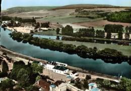 CPSM   MARBACHE   La Gare Et Son Quartier Avec La Moselle - Frankreich