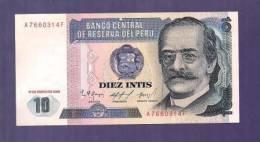 PERU 1986 UNC Banknote  10 Intis Km 128 - Peru