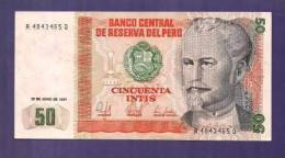PERU 1987 UNC Banknote  50 Intis - Peru
