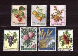 SAN MARINO Selection Of  7  Stamp, Thema Fruit - Fruits