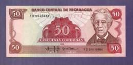 Nicaragua 1985 UNC  Banknote  50 Cordobas - Nicaragua