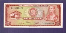 PERU 1976 UNC Banknote 10Soles De Oro Km 112 - Peru