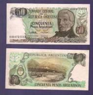 ARGENTINA 1983,  Banknote,  UNC, 50 Pesos Argentina Km314 - Argentinië