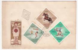 HUNGARY - Olimpyc Games Tokyo 1967, FDC. Miskolc Seal - Summer 1964: Tokyo