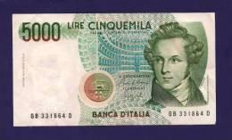 ITALY 1985,   Banknote, Used VF,  5 000 Lira Km85 - 5000 Lire