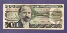 MEXICO 1983 Used VF Banknote  500 Pesos KM733c - Mexico
