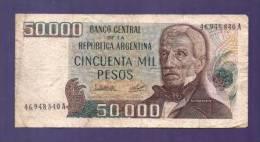 ARGENTINA 1979,  Banknote,  Used VG. 50.000 Pesos Km307 - Argentina
