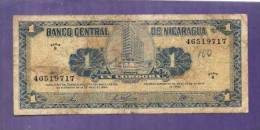 Nicaragua 1968 Used VG  Banknote  1 Cordoba (dirty) - Nicaragua