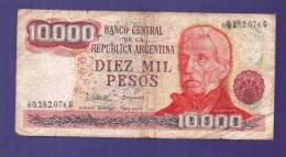 ARGENTINA 1976,   Banknote,  Used VG. 10.000 Pesos Km306 - Argentinië