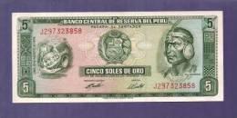 PERU 1974 UNC Banknote 5 Soles De Oro Km 99c - Peru